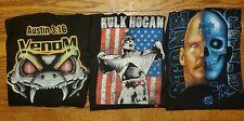 WWF WCW WWE Stone Cold Hulk Hogan T Shirt Lot of 3!!