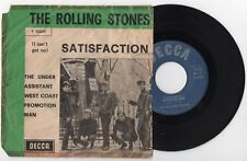 "The Rolling Stones SATISFACTION 45 giri 7"" decca F 12220 1965 IT 1st press MONO"