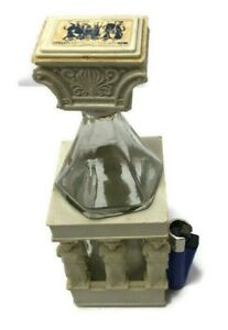 Decorative Vintage Empty Wine Bottle Glass Plastic Home Decor Carved Statue Rare