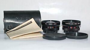 Rare X610 YASHICA ELECTRO 35 YASHIKOR AUX. WIDE ANGLE & TELEPHOTO LENSES 1:5.6