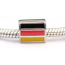 German Flag Jewelry Charm Sterling Silver & Enamel Carlo Biagi Beads DSEF06