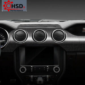 Carbon Fiber Dashboard Instrument Panel Car Stickers For Ford Mustang 2015-2019