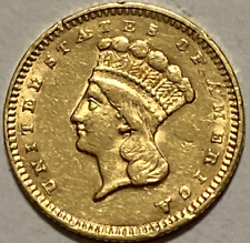 1857 U.S. Indian Princess Head $1 One Dollar Gold Coin