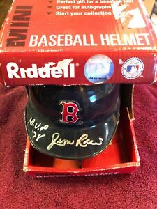 Jim Rice AUTOGRAPHED BOSTON RED SOX Mini Helmet SIGNED  MVP 1978 AUTO