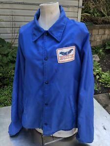 Vtg Flint Mi Buick City Automobile Industrial Coat Gm Shop Dealer Xl Jacket