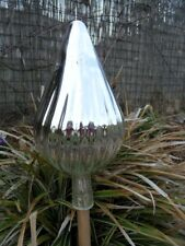 Große Rosenkugeln Glaskugeln Gartenkugeln Garten Balkon Rosenkugel 30cm Silber