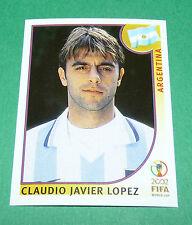 N°401 LOPEZ ARGENTINA PANINI FOOTBALL JAPAN KOREA 2002 COUPE MONDE FIFA