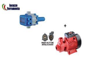 POMPA MOTORE PERIFERICA ROSSO AUTOCLAVE 0,5 HP + PRESS CONTROL 1,5 BAR BLU