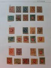 LITUANIA . Lote de sellos antiguos .