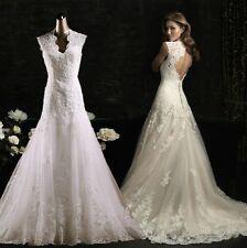 New lace white/ivory Wedding dress Bridal Gown custom size 6-8-10-12-14-16+++