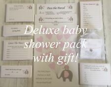 Girls Baby Shower Pack Kit, Games, Gift, Invitations, Up to 20 Guests! Pink #BS
