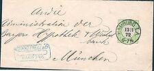 Briefmarken aus dem deutschen Reich (1872-1874) als Ganzsache