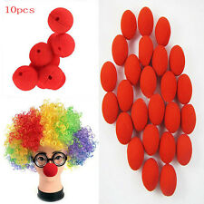 Cute 10pcs Red Ball Foam Circus Clown Nose Comic Party Halloween Costume
