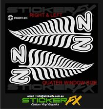 NZ INK SILVER FERN QUATER WINDOW CAR DECAL STICKER ORAFOL VINYL  SFX076S