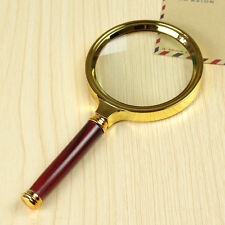 80mm Handheld 10X Magnifier Magnifying Glass Loupe Lens For Easy Reading Jewelry