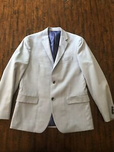 Men's BEN SHERMAN Light Blue Sport Coat/Jacket SZ 40R