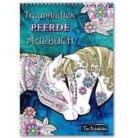Pferde Malbuch für Mädchen: Spiralbindung & perforiertes A4 Künstlerpapier