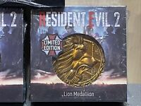 Resident Evil 2 Remake PS4 Limited Edition Lion Medallion Coin Figure Statue