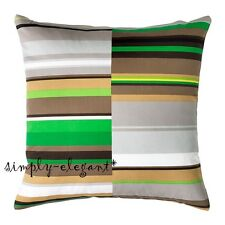 "Ikea Stockholm Cushion Cover Striped Deco Pillow Cover 20x20"" Cotton Multicolor"