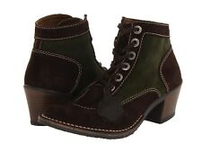 NEW KICKERS Natkick 1 Brown Green Suede Mid Calf Boot size 36 (US 5) Retail $143
