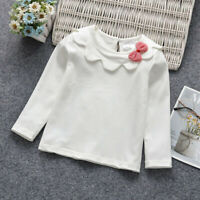 Autumn Toddler Baby Girls Striped Printed Long Sleeve T-Shirt Winter Warm Tops