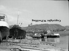 alte Ansicht/Foto Lahnmündung bei Lahnstein mit Schiffswerft  1962
