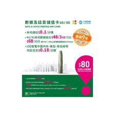 Hong Kong 4G/3G Prepaid Voice and Data Travel Sim Card Data Roaming Cost Saving