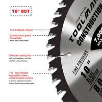 "Circular Saw Blade 10"" 5/8"" 1 pc 80T Table Miter for DeWalt Makita & Milwaukee"