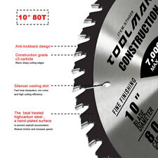 "Circular Saw Blade 10"" 5/8"" 1 pc 80T Table Miter for DeWalt Makita & Milwaukee"