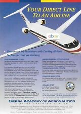 AMERICAN EAGLE AIRLINES ERJ-145 YOUR DIRECT LINE TO AN AIRLINE SIERRA ACADEMY AD