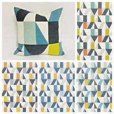 Scion Nuevo Fabric - Retro - Geometric - Cushion Covvers - Marine Kiwi Midnight