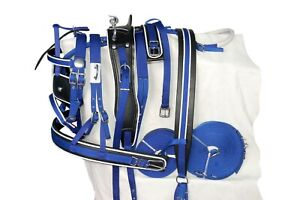 HORSE NYLON DRIVING HARNESS IN BLACK AND MORE IN FULL, COB, PONY, SHETLAND ACES