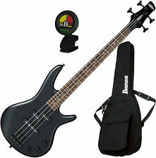 Ibanez GSRM20BWK Gio 4-String Mikro Weathered Black Bass Guitar Bundle!