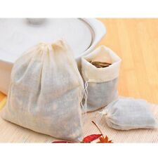 25*20CM Reusable Drawstring Cotton Filters Tea Muslin Bags