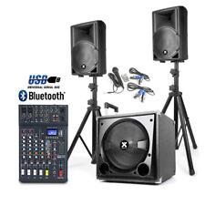 Active Bluetooth DJ Speakers Subwoofer System Studiomaster Club XS6 Mixer 800W