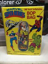 """MARVEL SUPER HEROES BOP BAG 36"""" INFLATABLE 1990 NEW IN BOX"""