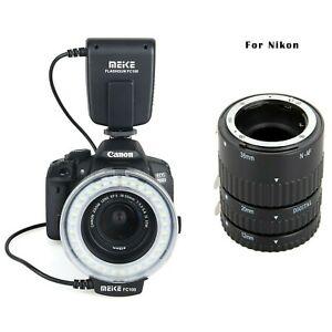 Meike MK-N-AF-B Auto Focus Macro Extension Tube + FC-100 Ring Flash for Nikon