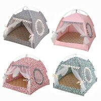 Pets Bed Cushion Sleeping House Detachable Cleaning House Portable Tents Kennel