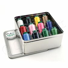 Isacord Basic Assorted Sewing Threads Tin Box: 12 Different Colors 1000m Spools