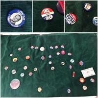 Political Pinback Vintage Lot 25 Pins on Fabric Ike Nixon Lodge Bush Bastian