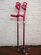 Small Adult, Childrens Crutches, Fushia Pink, Reflective Handle