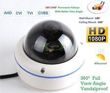 2.4MP HD-AHD Fisheye Panoramic Super Wide Angle CCTV Vandal camera 360/180Degree