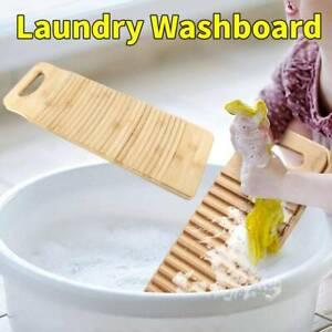 Wooden Scrubbing Board Anti-slip Laundry Washboard Cleaning Washing Board Home