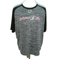 ALABAMA CRIMSON TIDE Mens (Size XL) Gray Short Sleeve Baseball Jersey T-Shirt