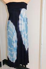 New Raviya Swimsuit Bikini Cover Up  Long Dress Navy Size L Strapless
