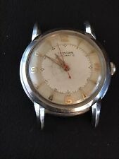 Rare Pre Heuer Mens Leonidas Automatic 17J Cal 690 All Stainless 34mm Claw Lugs