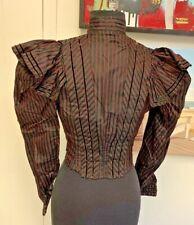 VICTORIAN~Authentic Antique 1870's Silk Ladies Hand Sewn Waist coat jacket