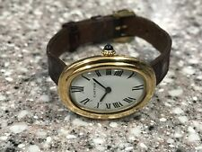 VINTAGE 1970s 18KT GOLD LADIES CARTIER BAIGNOIRE MECHANICAL WATCH.