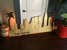 Original Art/ wood craft work - Los Angeles Skyline - Modern/Contemporary