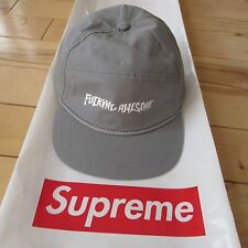 F*CKING AWESOME FA 2015 S/S CLASSIC LOGO 5 PANEL SNAPBACK HAT CAP (GRAY)